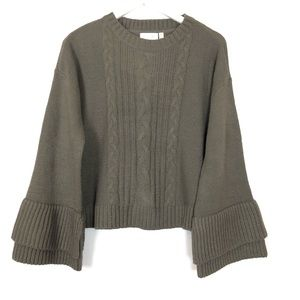 RD Styles | Bell Sleeve Cable Knit Sweater | Lg